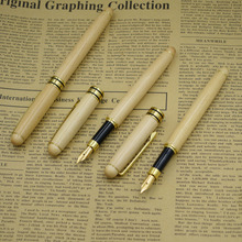 (12 Pieces/Lot) Wooded Fountain Pen Nib 0.5mm Maple Wood Writing Gift Office Supplies School Wholesale
