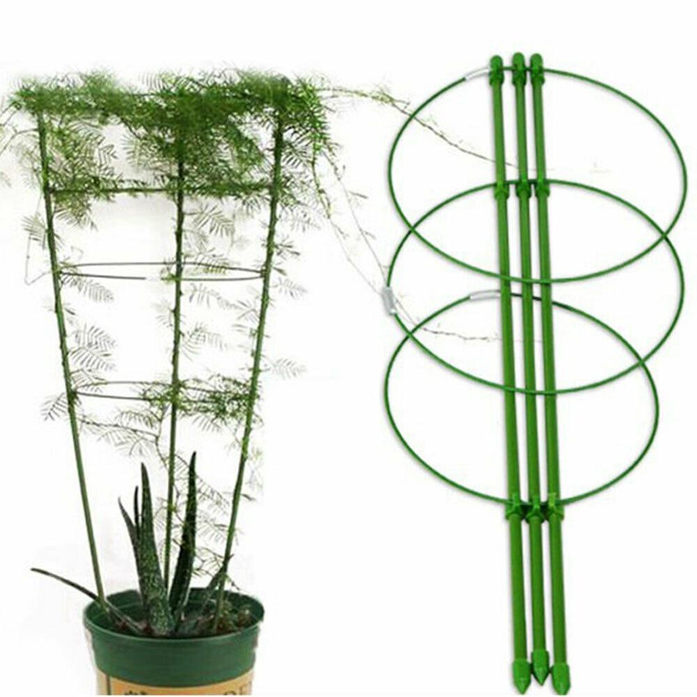 1 Pcs Climbing Vine Frame Flower Plastic Coated Steel Bracket Gardening Bracket Flower Stand Plant Support Frame Plant