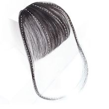 Bluelucky Light Weight One Piece Front Head Wig Clips On Human Hair Air Bangs For Lovely Girls