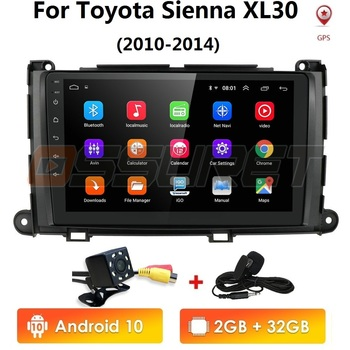 9android 2G+32G & 1G+16G Car GPS player radio multimedia navigation Strero For Toyota Sienna 2010-2014 car USB DVR FM OBD2 image