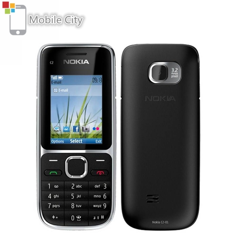 Nokia C2-01 Unlocked GSM Mobile Phone C2 RM-722 Model with Hebrew Keyboard and Language Used Cellphones
