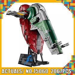 Творческий Звездные войны серии UCS я раб № 1 модель строительные блоки маленького размера Идущие вместе с LegoINGlys 75060 2067 шт. кирпичи традиционн...