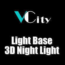 VCity 3D LED Light Base Only for Old Customer 3D Night Light Table Lamp Only Light Base Led Lighting Nightlight Lights 1pc rechargeable led light under table base led light lamp for furniture wedding table lighting home party decoration lights