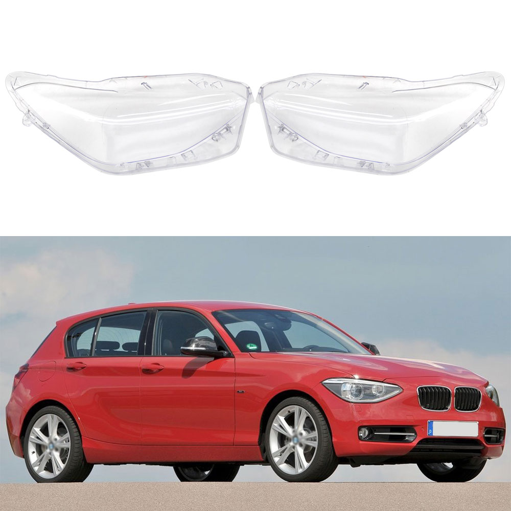 Car Headlight Transparent Glass Lens Cover For BMW F20 2012 2013 2014 Front Left Right Headlamp Lampshade Auto Accessories image