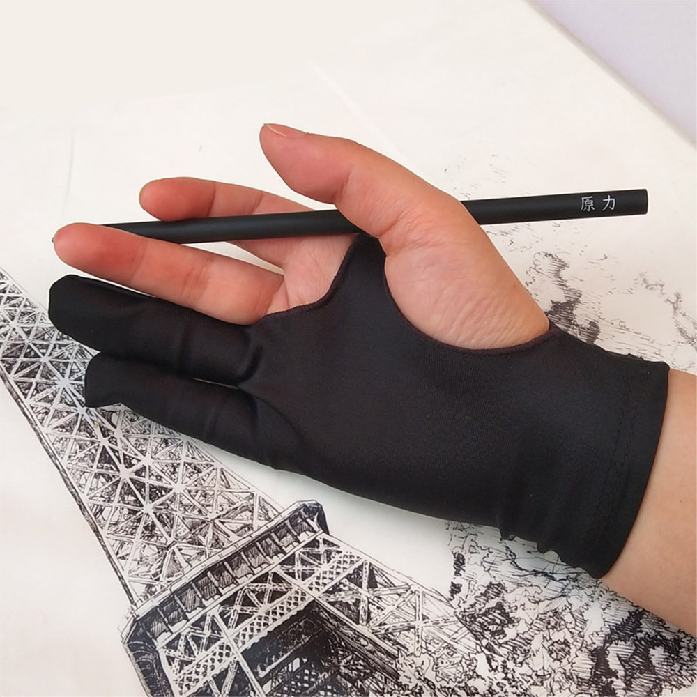 Flat Painting Anti-touch Screen Gloves 2 Finger Anti-fouling Gloves for School Anti-touch Hand Painting for Artistic Sketching