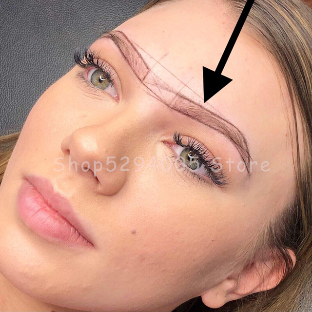 Microblading Pre-Inked Brow Mapping Strings pigment string PMU Accessories Brow Mapping Thread For Eyebrow for Permanent Makeup 5