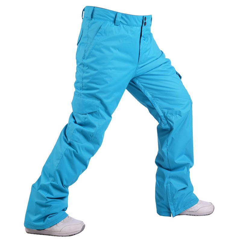 Winter Ski Pants Men Women Strap Waterproof Snowboard Pants For Thicken Snow Trousers Outdoor Winter Thermal Breathable Skiing