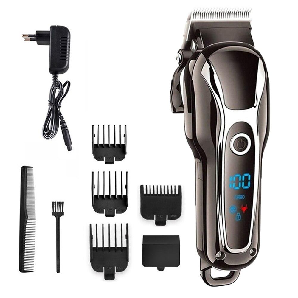 Barber Hair Clipper Professional Men Hair Trimmer Haircut LCD Electric Hair Cutting Machine Salon Tool Haircut Cord&cordless