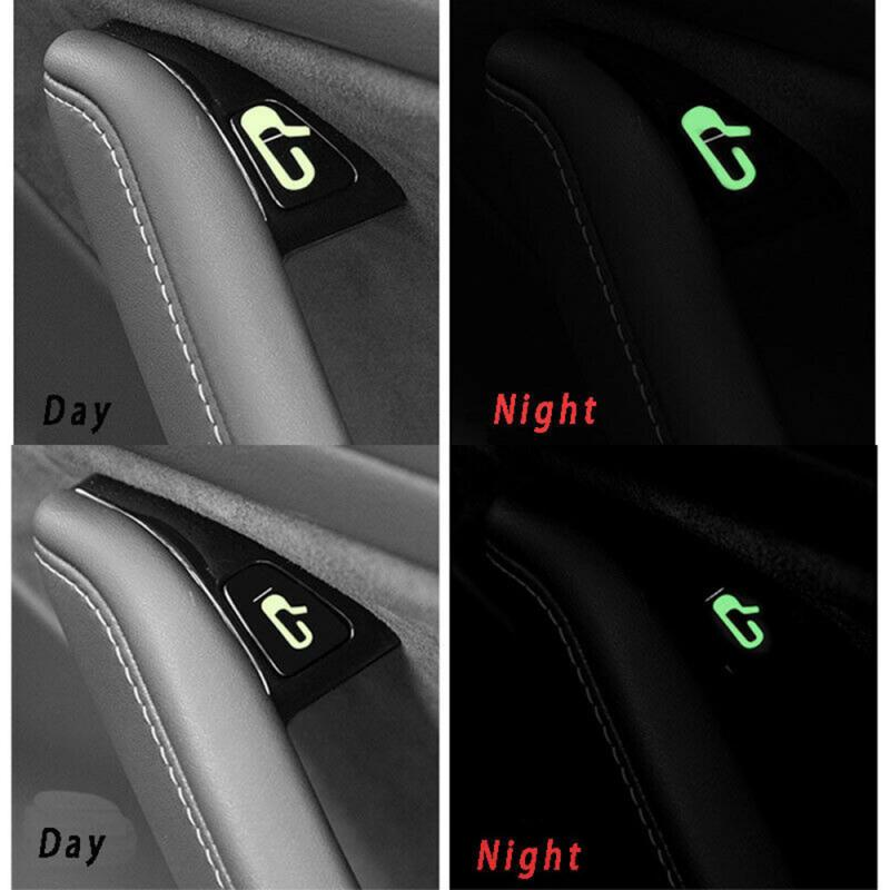 2019 New Car Door Open Exit Luminous Sticker Decal Open Button Reminder Fit For Tesla Model 3  Car Accessories