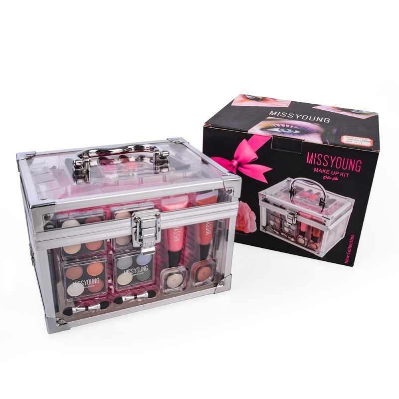 Make-up Set Box Professionele Make Volledige Koffer Make-Up Kit Sexy Rode Make-Up Voor Vrouwen Matte Lipstick Make-Up Kwasten Set Nail set