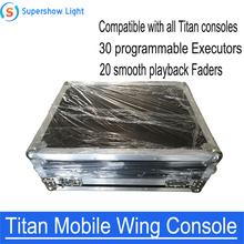 Mobile Wing DMX Console Professional Stage Lighting Controller Supports All Titan Console Tiger Touch Quartz Consoles cheap BCL YAN Stage Lighting Effect DMX Stage Light TTM-500 90-240V Professional Stage DJ