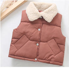 Теплое пальто для маленьких мальчиков Жилет девочек с карманом