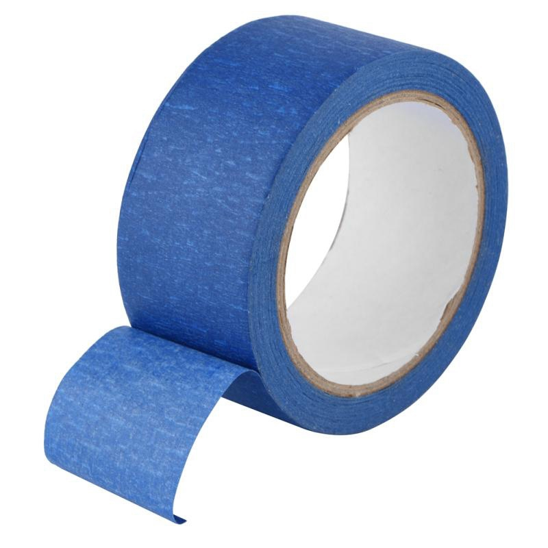 48Mm X 30M Resistant Adhesive Blue Masking Tape Heat Crepe Paper For 3D Printer Traceable,Writable Clothing Labels