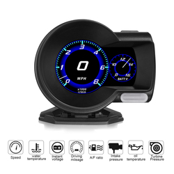 Профессиональный бренд OBD2 F8 дисплей Автомобильный цифровой нагнетатель вольтметр Спидометр температура воды сигнализация масло automa