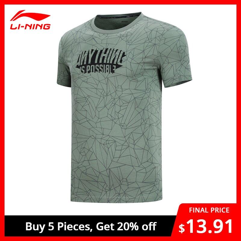 Li-Ning Men's The Trend T-Shirt Breathable 100% Cotton Regular Fit LiNing Li Ning Sports Tops Tees T-shirts AHSN509 MTS2877