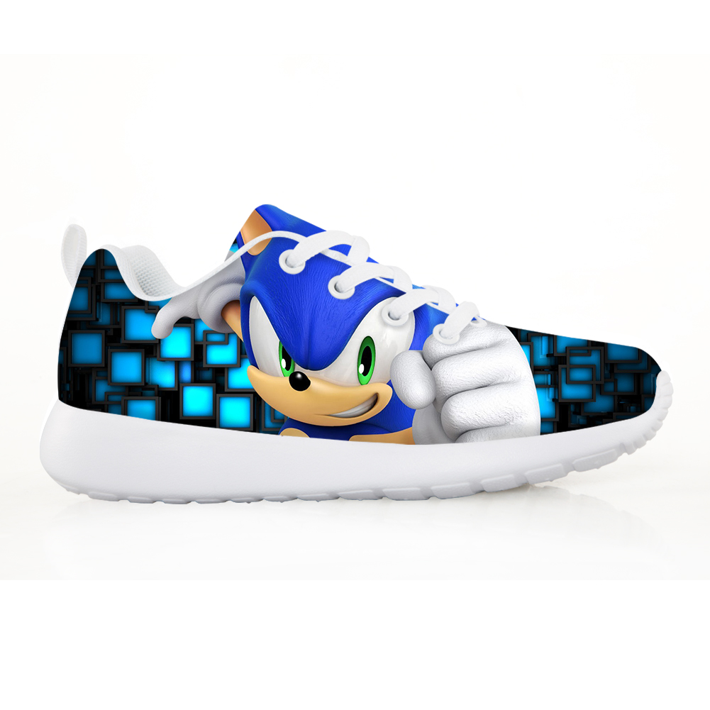 NOISYDESIGNS Children's Shoes Lightweight Sneakers Boys Girl Pretty Sonic the Hedgehog Kids Casual Flats Breath Lace-up Shoes