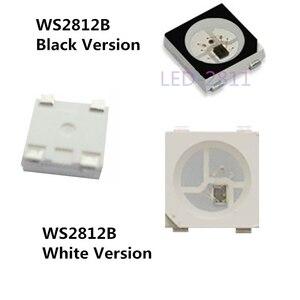 Image 1 - 100 ~ 1000pcs WS2812B LED שבב; 5050 RGB SMD;WS2812; בנפרד מיעון דיגיטלי; DC5V; שחור/לבן גרסה
