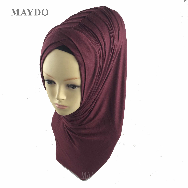 Pull On Ready Made 2 Piece lace Hijab Long Shawl Scarf Pashmina chemotherapy hat