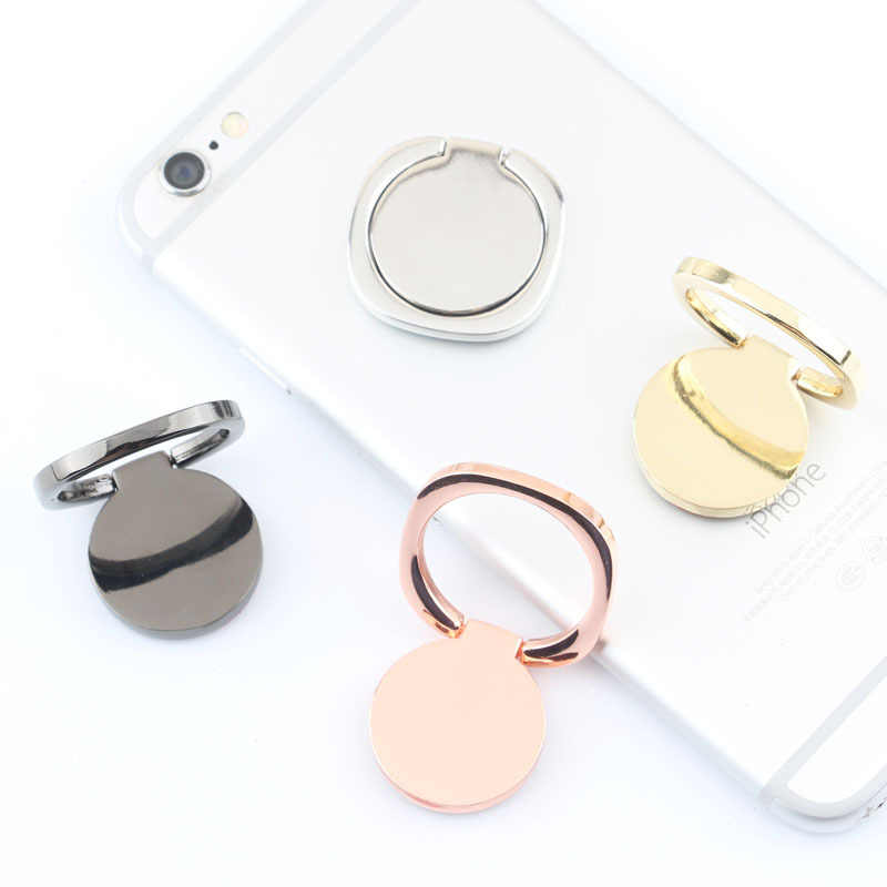 Soporte de metal de lujo para toma de corriente para teléfono móvil soporte de anillo Universal para teléfono Coche magnético accesorios de soporte