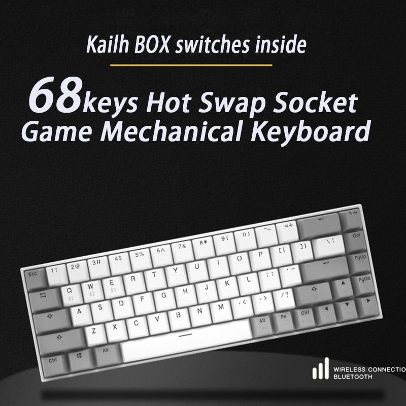 Игровая механическая клавиатура FL ESPORTS, 68 клавиш, разъем горячей замены, переключатель для ПК, ноутбука, офиса, работы|Клавиатуры| | АлиЭкспресс