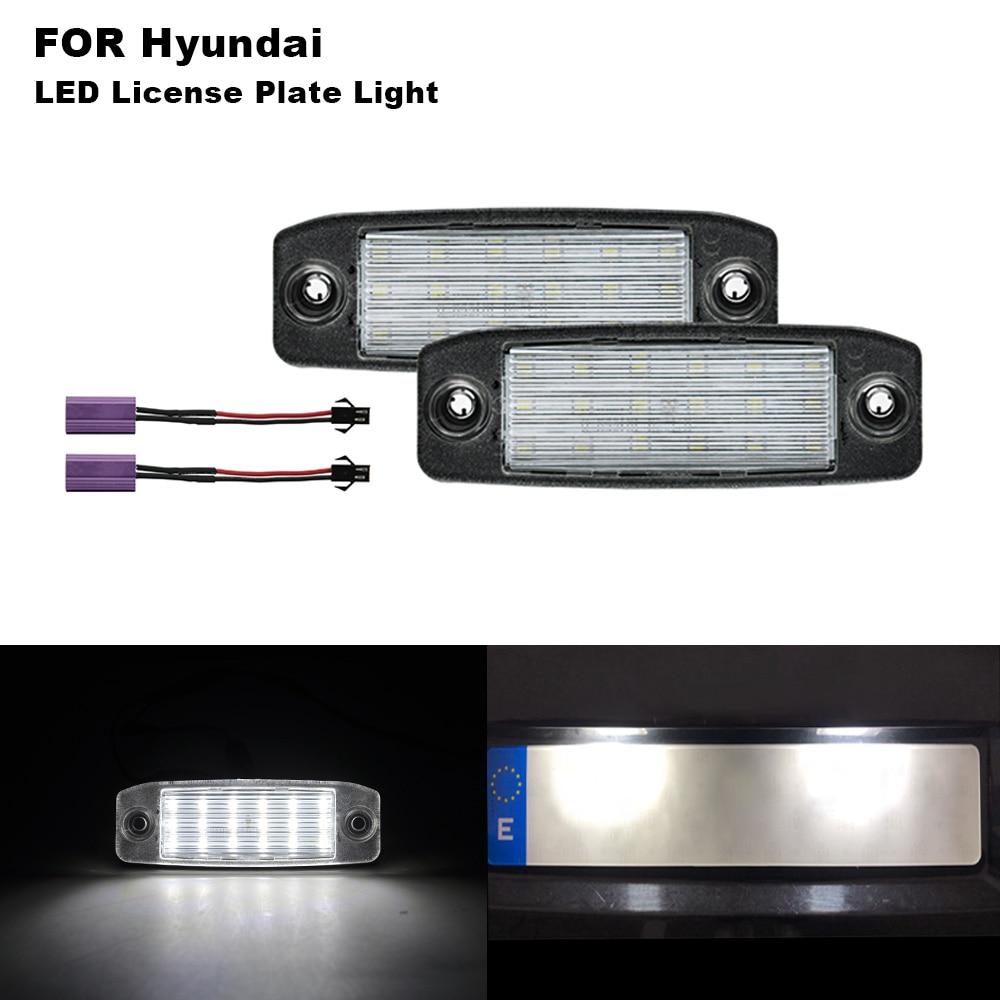 2PCs Canbus LED License Plate Lights Number For HYUNDA Sonata 10 YF 10MY GF 10 2010 2011 2012 2013 2014 2015 2016 2017 2018 2019
