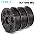 SUNLU PLA PLUS Filament 1kg 1,75mm 3D Drucker Filaemnt pla + 3 rollen Material Für 3D Stift PLA filament Extruder Verbrauchs