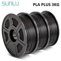 Filamento SUNLU PLA PLUS 1kg 1.75mm stampante 3D Filaemnt pla 3 rotoli materiale per penna 3D PLA filamento estrusore materiale di consumo
