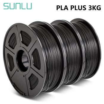 SUNLU PLA PLUS Filament 1kg 1 75mm drukarka 3D Filaemnt pla + 3 rolki materiał do 3D długopis PLA żarnik wytłaczarka materiały eksploatacyjne tanie i dobre opinie CN (pochodzenie) solid 335 metrów + -0 02MM 170-190 degree C RoHS Reach 100 No Bubble SUNLU PLA + Filament Eco-friendly Bright color low shrinkage