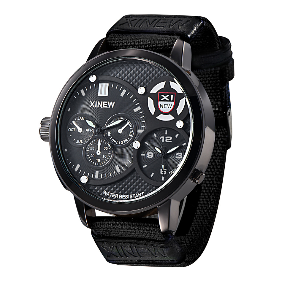 Fashion <font><b>Watches</b></font> Mens Alloy case Woven strap Quartz <font><b>watch</b></font> 24-hour indication Clock Men Sports Leisure Wristwatch mens <font><b>watch</b></font> image