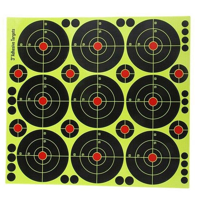 90Pcs 3 Inch Targets Reactive Splatter Paper Target for Archery Targeting for short / long distance targeting 4