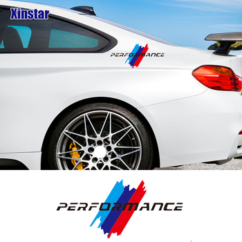 2pcs kk M perfermance car side body decoration sticker for BMW E46 E60 E90 F10 F20 F30 M1 M2 M3 M4 M5 M6 X1 X3 X5 X6 GT Z4 image