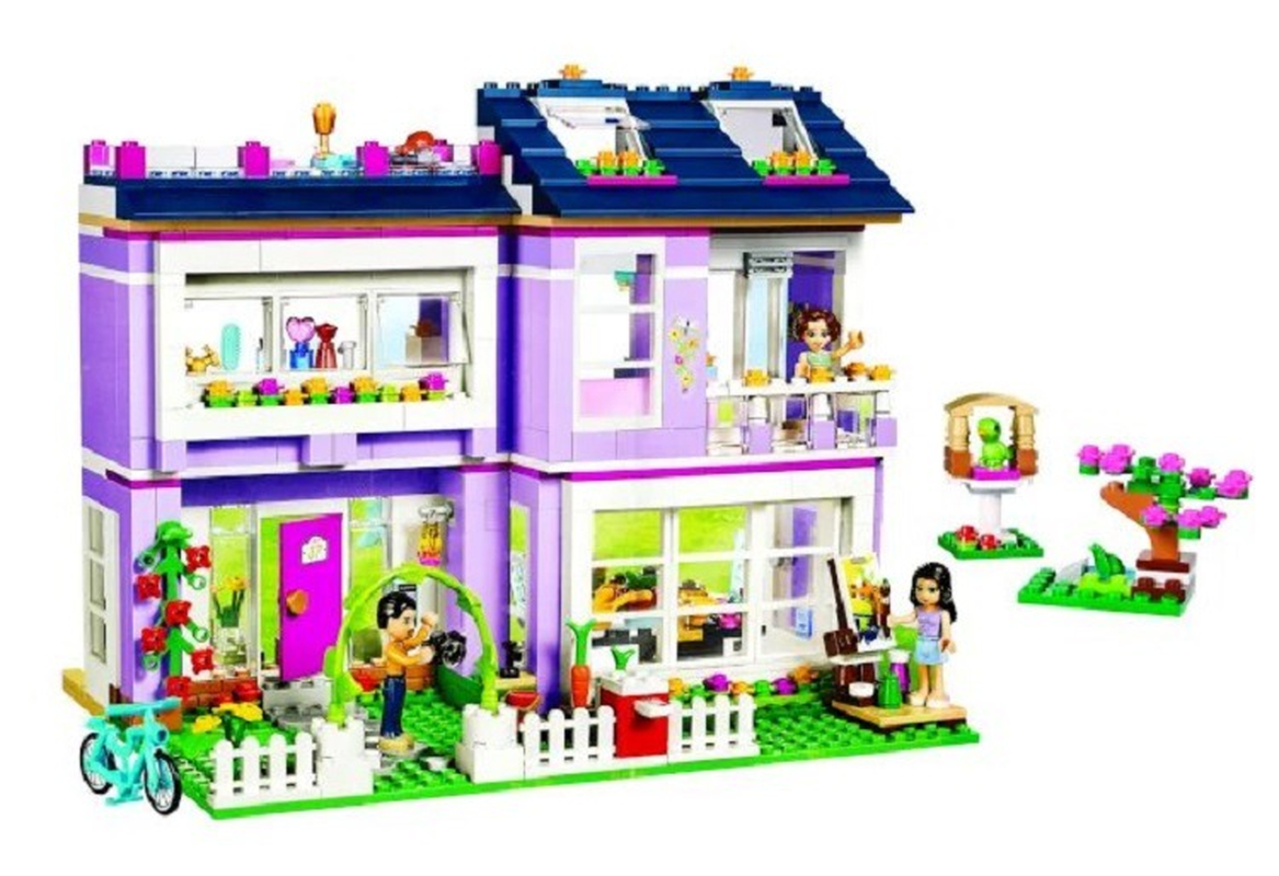 10541 Compatible with Legoinglys Friends Emma's House 41095 Building Blocks Emma Mia Figure Educational Toys For Children Girl-in Blocks from Toys & Hobbies