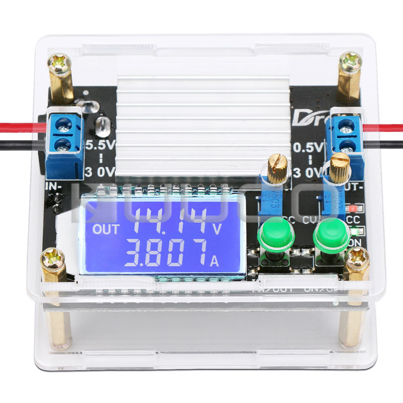 35W Power Supply module <font><b>DC</b></font> 5.5~30V to 0.5~30V <font><b>4A</b></font> Power <font><b>Converter</b></font> <font><b>DC</b></font> <font><b>5V</b></font> <font><b>12V</b></font> 24V Adapter/Regulator/Driver with Case LCD Display image