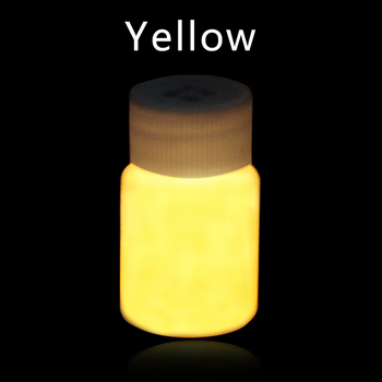 20g Acrylic Paints Yellow Fluorescent paint Glow in the dark for Party Nail Decorations Art Supplies Phosphor Pigment DIY 10g luminous paint fluorescent paint noctilucent powder in diy decorations acrylic powder phosphor pigment glow in the dark
