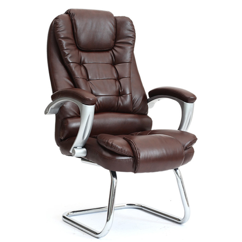 Leather Home Computer Chair Bow Office Chair Staff Chair Comfortable Chair