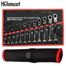 Conjunto de herramientas de reparación de automóviles llave de carraca llave Universal llave de carraca juegos de llaves herramientas manuales de trinquete llaves de manija Juego de llaves