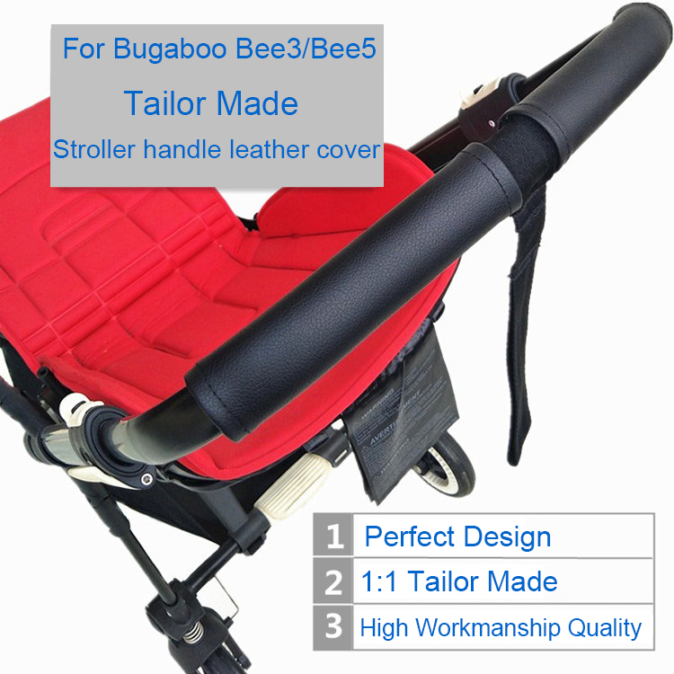 1:1 Baby Stroller Handle Leather Cover For Bugaboo Bee5 Pushchair Accessories Armrest Leather Protective Case Cover For Bee3 Bee