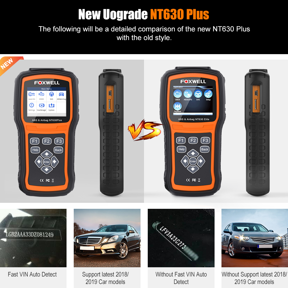 Image 5 - OBD2 Scanner Foxwell NT630 Elite OBD 2 ABS Airbag SRS SAS Crash Data Reset Auto ODB2 Car Diagnostic Tool OBD Automotive Scanner-in Code Readers & Scan Tools from Automobiles & Motorcycles