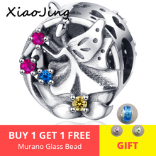 Hot sale Fairy Elf Charms 925 Sterling Silver Blue CZ Bead Fit Original Pandora Bracelet Necklace DIY Jewelry Making for Women цена 2017