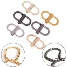 Metal Buckle Shorten-Bag-Accessories Strap Chain Clip-Handbag Adjustable DIY 2pcs/Set