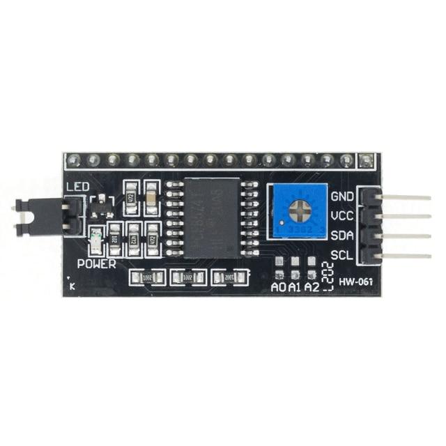 20PCSC PCF8574 IIC I2C Tiếng TWI SPI Giao Tiếp Nối Tiếp Ban Cổng 1602 2004 Màn Hình LCD LCD1602 Adapter Tấm Màn Hình LCD Bộ Chuyển Đổi mô Đun