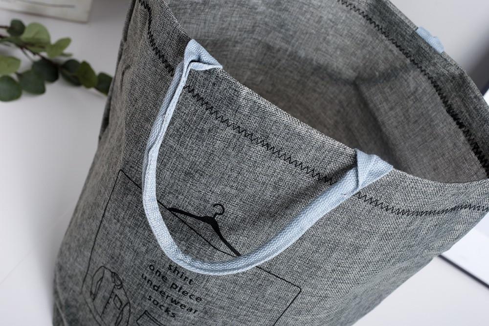 Laundry Basket Picnic Basket Stand Toy Storage Box Bag Cotton Washing Dirty Clothes  Basket Organizer Bin Handle 4050 (2)