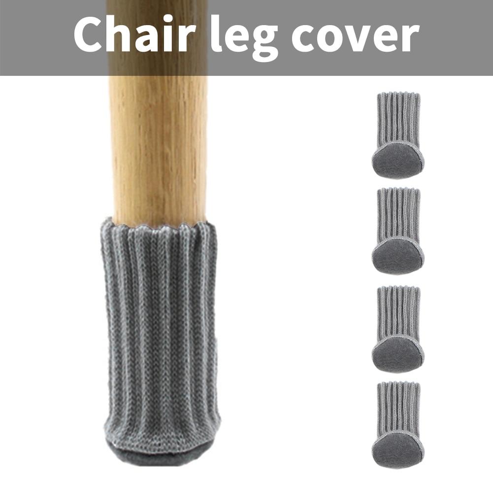 12pcs Chair Leg Socks Cloth Floor Protection Knitting Wool Socks Anti-slip Table Foot Furniture Feet Sleeve Cover Cat Scratching