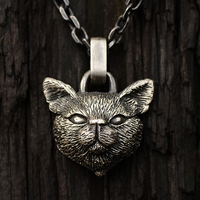 Original hand designed 925 Sterling Silver pet ring pendant for male and female pets