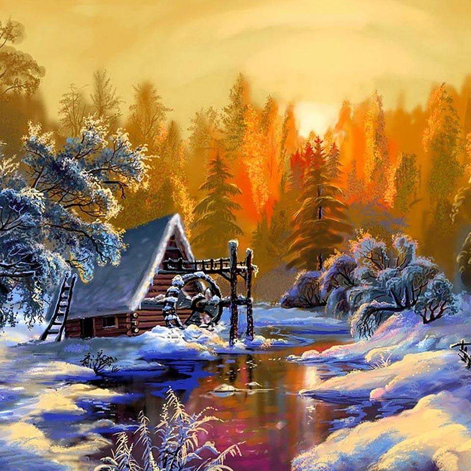 прикол новогодняя природа картинки художников красивые результате получит