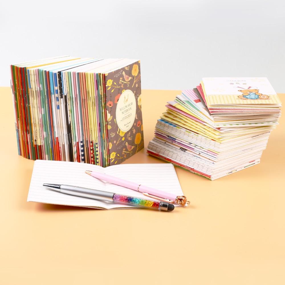 40Pcs/set Japanese Anime Kawaii Notebook Planner Office Accessory Cute Flamingo Small Notepad Agenda Supply School Stationery it