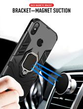 For Redmi Note 7 Iron Man Magnetic Ring Mobile Phone Case Car Bracket Anti-drop Phone Cover Simple Fashion Shell