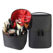 цена на Cosmetic Storage Bag Waterproof Large Capacity Toiletry Bag Travel Makeup Organizer Make Up Brush Eyebrow Pencil Holder Pouch