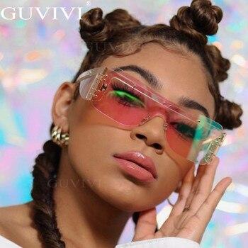 Rimless Square Sunglasses Women 2020 Gradient Rectangle Sunglasses Fashion Sunglasses Brand Designer Eye wear  2