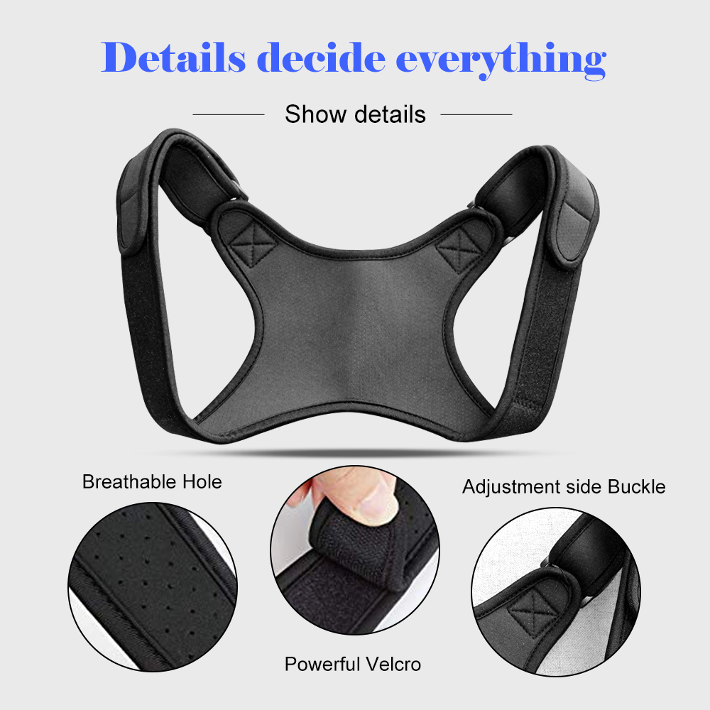 Back Posture Corrector Clavicle Spine Back Shoulder Lumbar Brace Support Belt Adjustable Men Women Posture Correction in Outdoor Fitness Equipment from Sports Entertainment